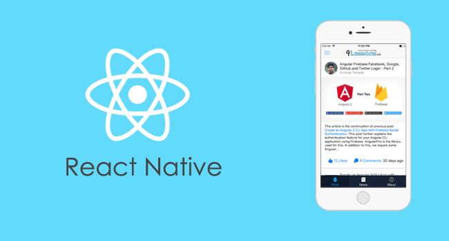 React Native Mobile Apps