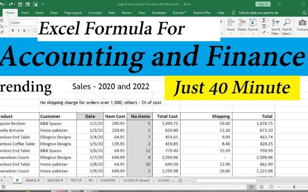 كورس اكسيل محاسبى شرح عربى كامل Accounting by Excel